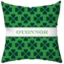<strong>Checkerboard, Ltd</strong> Personalized Luck O' the Irish Poly Cotton Throw Pillow