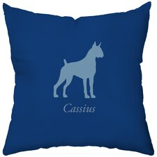 Personalized Boxer Poly Cotton Throw Pillow
