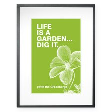 Personalized Life is a Garden Framed Graphic Art