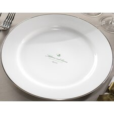 "<strong>Checkerboard, Ltd</strong> Personalized Synthesis 12.25"" Dinner Plate"