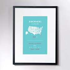 Personalized Miami Home Framed Graphic Art
