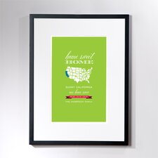 Personalized Home Sweet California Framed Graphic Art