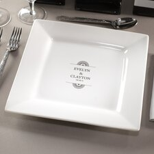 "<strong>Checkerboard, Ltd</strong> Personalized Balance 11.63"" Dinner Plate"