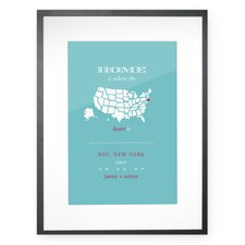 Personalized New York City Home Framed Graphic Art