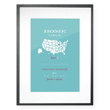 Personalized Chicago Home Framed Graphic Art
