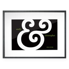 Personalized Grapheme Framed Graphic Art