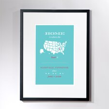Personalized Nashville Home Framed Graphic Art