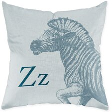 Zebra Poly Cotton Throw Pillow