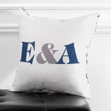 Personalized Synergy Poly Cotton Throw Pillow