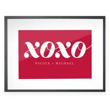 Personalized XOXO Framed Textual Art