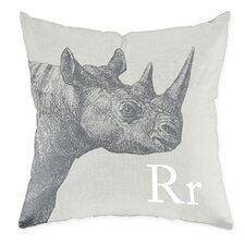 Rhino Poly Cotton Throw Pillow