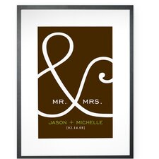 Personalized Mr. and Mrs Framed Textual Art