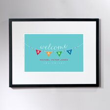 Personalized Baby Bunting Framed Art