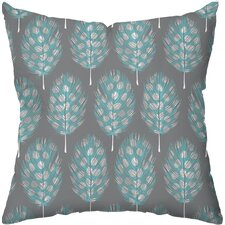 Guinea Feathers Poly Cotton Outdoor Throw Pillow