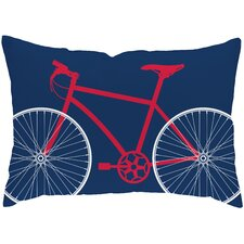 Bicycle Poly Cotton Throw Pillow