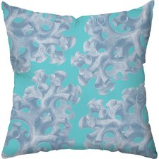 Coral Poly Cotton Throw Pillow