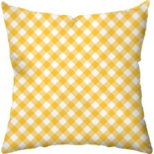 Gingham Poly Cotton Throw Pillow