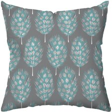 Guinea Feathers Poly Cotton Throw Pillow