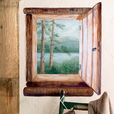 Cabin Window Wallpaper Mural