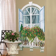 Paris Window Wall Mural (Set of 2)