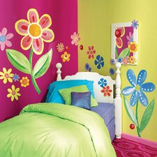 Big Flowers Wallpaper Mural (Set of 3)