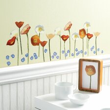 <strong>Wallies</strong> Springtime Poppies Vinyl Wall Decals