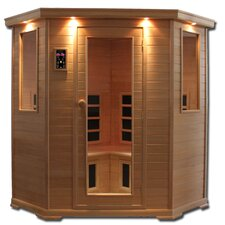 Essential Aspen 3 - 4 Person Corner Carbon and Ceramic FAR Infrared Sauna