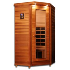 Premier 1 Person Corner Carbon and Ceramic FAR Infrared Sauna