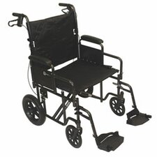 "Lightweight Transport 22"" Wheelchair"