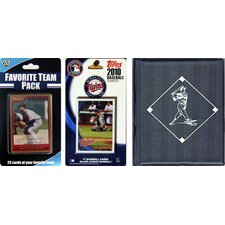 MLB Minnesota Twins Licensed 2010 Topps Team Set and Favorite Player Trading Cards Plus Storage Album