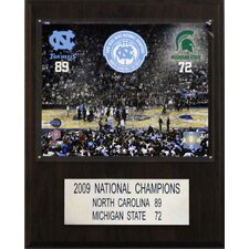 NCAA Basketball North Carolina 2009 Basketball Champions Plaque