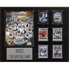 NFL New England Patriots 3 Time Super Bowl Champs Champions Plaque