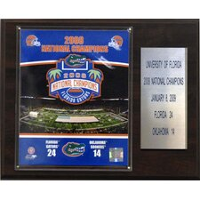NCAA Football Florida 2008 Gators Champions Plaque