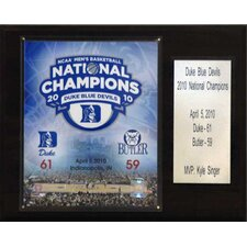 NCAA Basketball Duke Blue Devils Champions Plaque