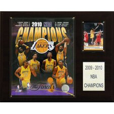 NBA 2010 Los Angeles Lakers Champions Plaque