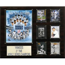 MLB New York Yankees 27 Time Champions Plaque