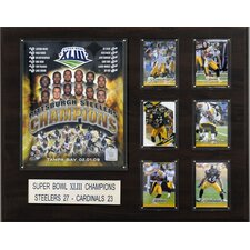 <strong>C & I Collectibles</strong> NFL Pittsburgh Steelers Super Bowl XLIII Champions Plaque
