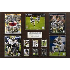 "NFL 24"" x 36"" New Orleans Saints Super Bowl XLIV Champions Plaque"