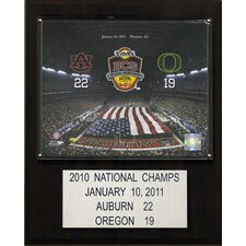 NCAA Football Auburn Tigers Champions Plaque