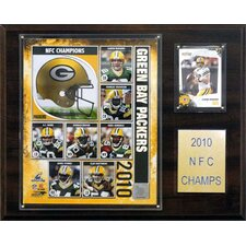 <strong>C & I Collectibles</strong> NFL Green Bay Packers 2010 NFC Champions Plaque