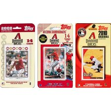 MLB 3 Different Licensed Trading Card Team Set