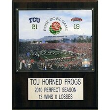 NCAA Football Texas Christian University 2011 Rose Bowl Champions Plaque
