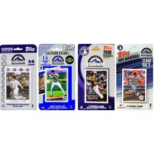 MLB 4 Different Licensed Trading Card Team Set
