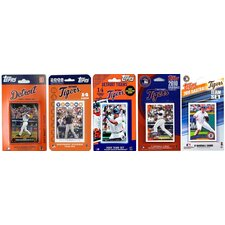 MLB 5 Different Licensed Trading Card Team Set From The Last 5 Years