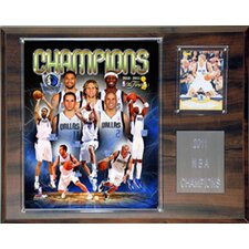 NBA Dallas Mavericks NBA Dallas Mavericks 2010-2011 Champions Plaque