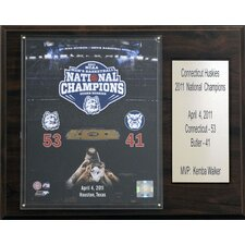 NCAA Basketball Connecticut Huskies 2011 Champions Plaque