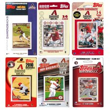 MLB Different Licensed Team Trading Cards (Set of 6)
