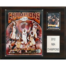 <strong>C & I Collectibles</strong> NBA Miami Heat Champions Plaque