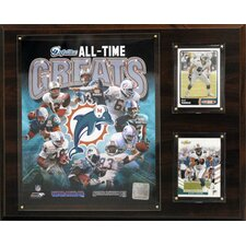NFL All-Time Great Framed Memorabilia Plaque