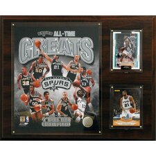 NBA All-Time Great Framed Memorabilia Plaque